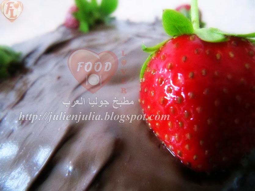 Nutella and Strawberry Cake كيك النوتيلا والفراولة
