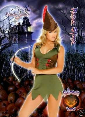Renee Stone wearing Robin Hood costume