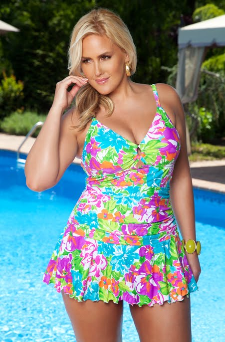 Flower Power - Trendy Plus Size Swimsuits | Plus Size Clothing ...