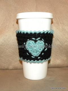 Swirls and Sprinkles: Free crochet Valentine's day coffee Kozie pattern