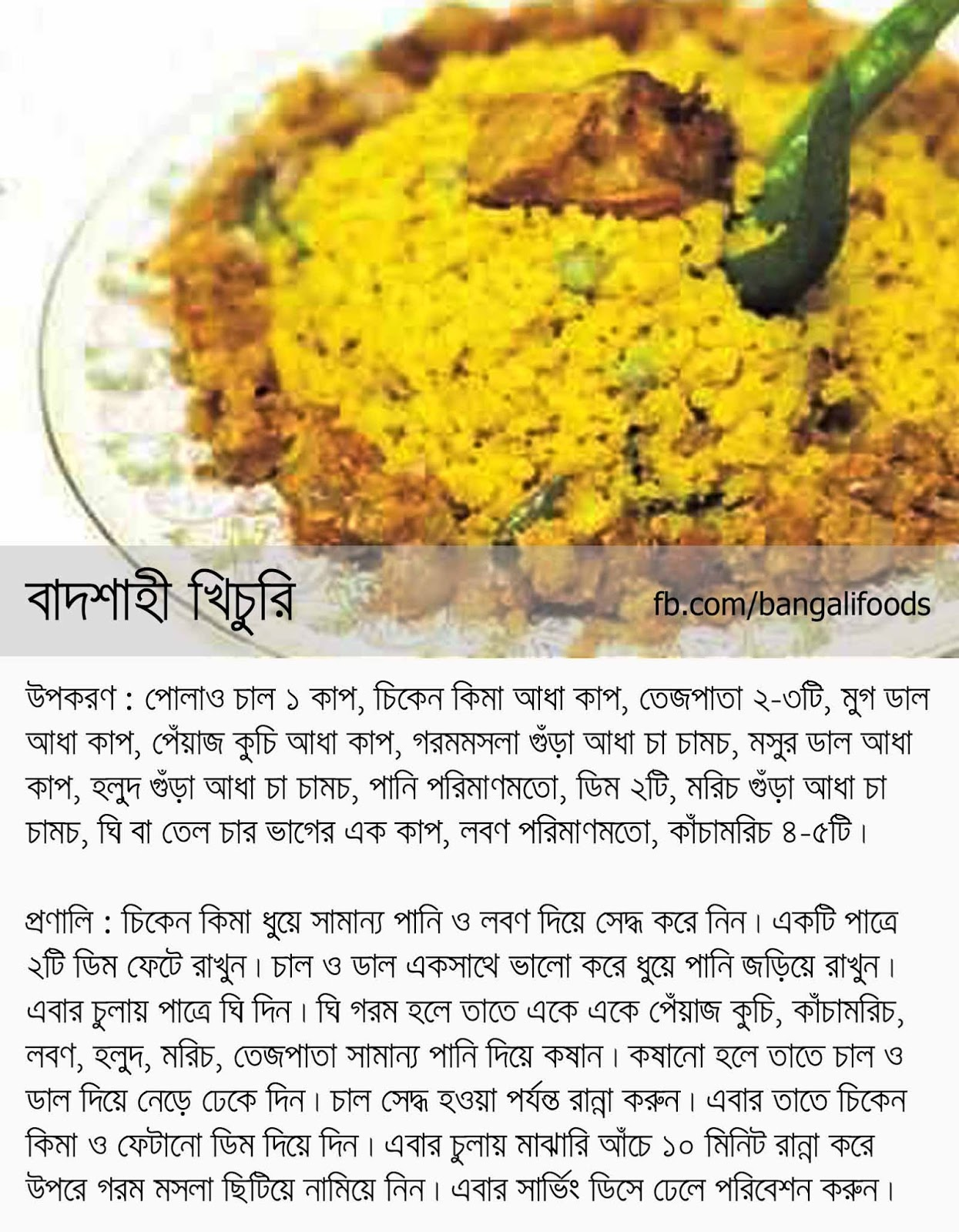 Bangali foods some khichuri recipes in bangla badshahi khichuri khichuri eaten by king forumfinder