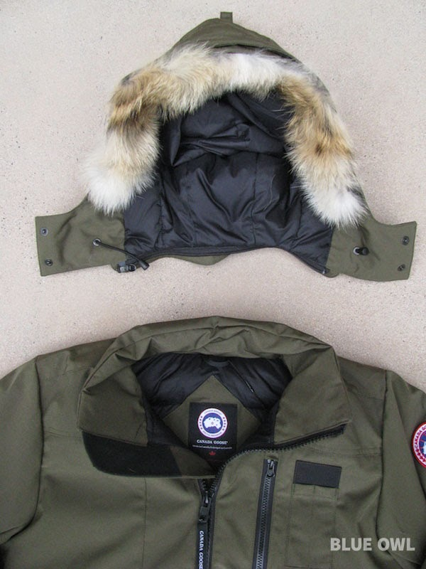 canada goose bomber removable hood