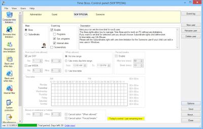تحميل برنامج حظر مواقع الانترنت وايقاف التطبيقات برابط مباشر Time Boss 3.13.000.0