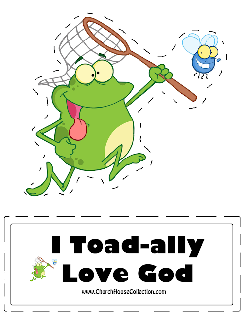 "FROG Cutout Craft  ""I TOAD-all Love God"" by Church House Collection"