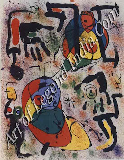 "The Great Artist Joan Miro Painting ""Lithograph from 'Seers'"" 1970 20"" x 26"" Private Collection"