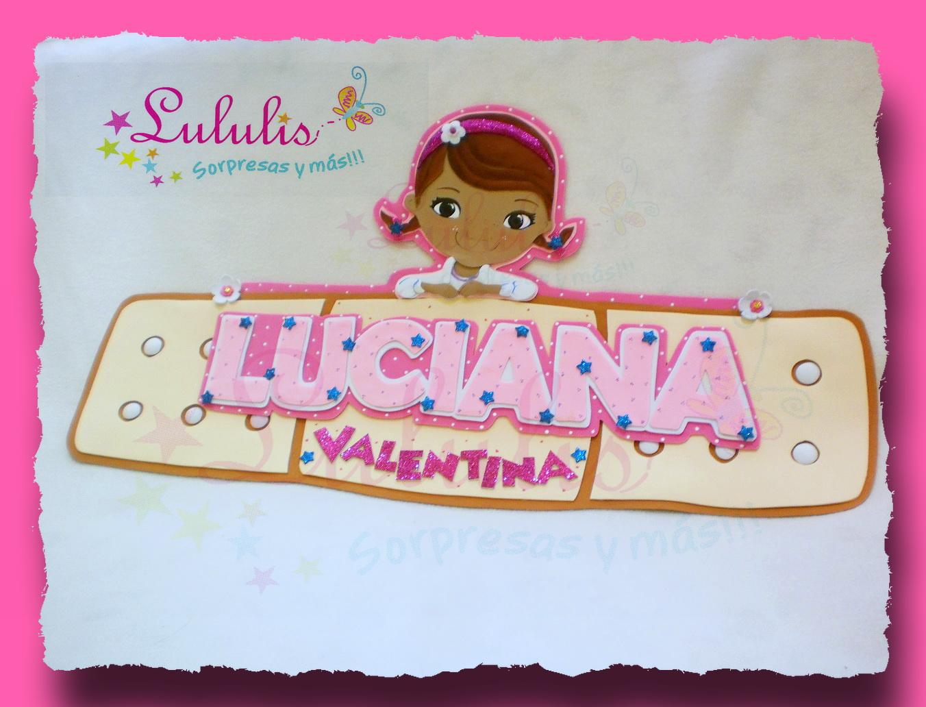 Letrero para el dormitorio Gracias a Luciana Valentina!