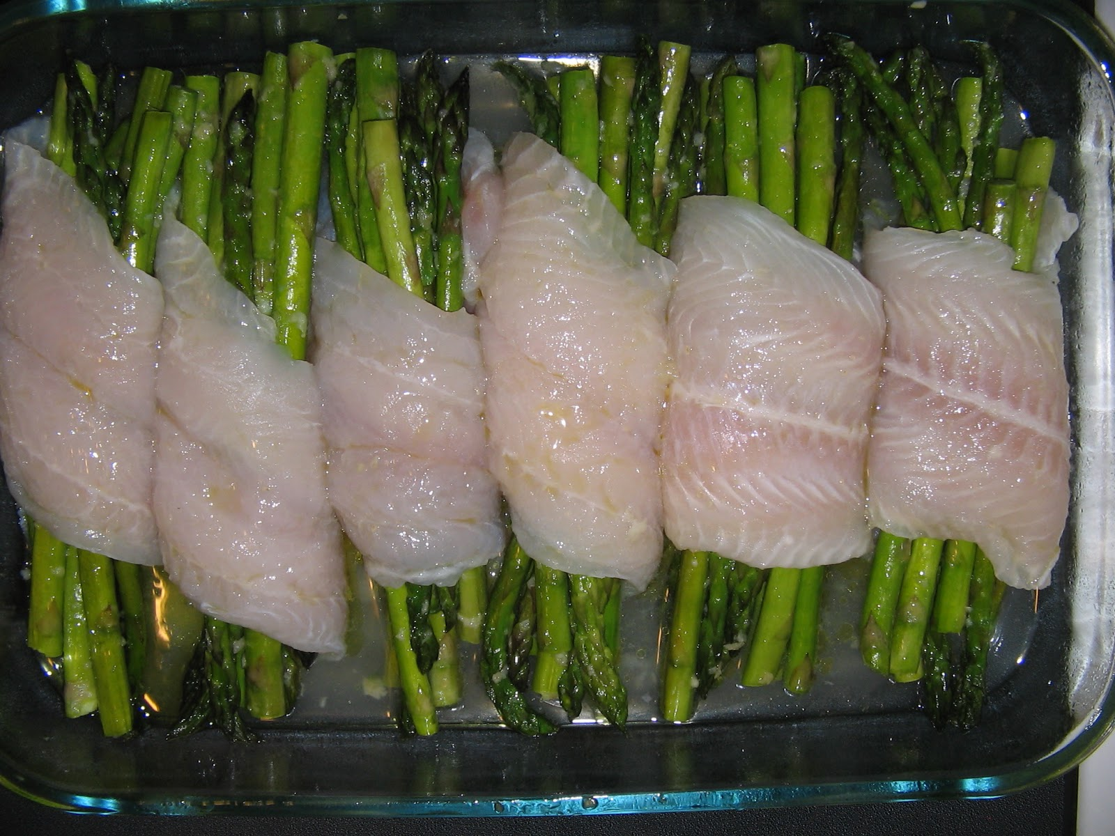 Abby eats cooking swai fish wrapped asparagus for How to bake swai fish in foil