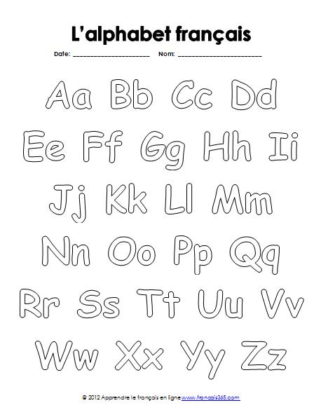 Apprendre le fran ais en ligne l 39 alphabet fran ais en - L alphabet en francais a imprimer ...