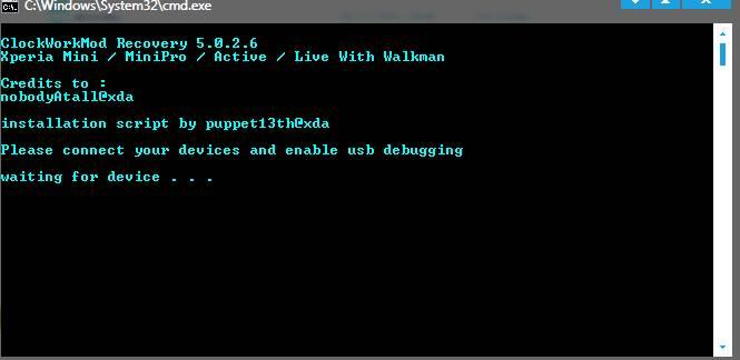 cara install CWM / clockworkmod recovery di live with walkman ...