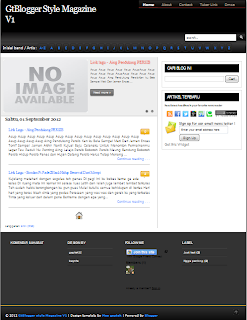 download template GtBlogger style Magazine V1