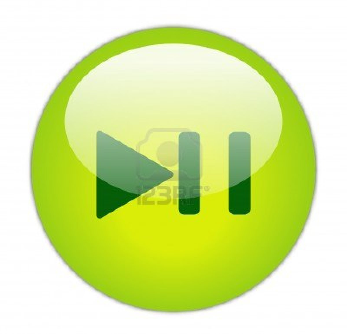 Play pause button icon the image kid - Green button ...
