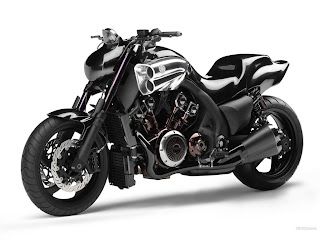 Black Yamaha Motorcycles