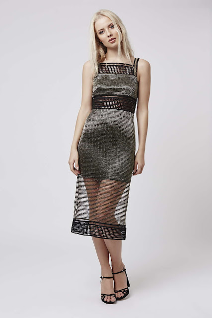 gold grid dress, topshop gold dress, mesh grid dress,