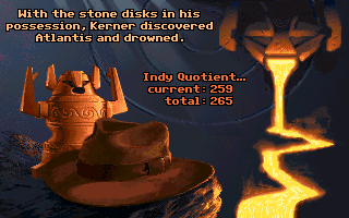 Indiana Jones and the Fate of Atlantis game over screen