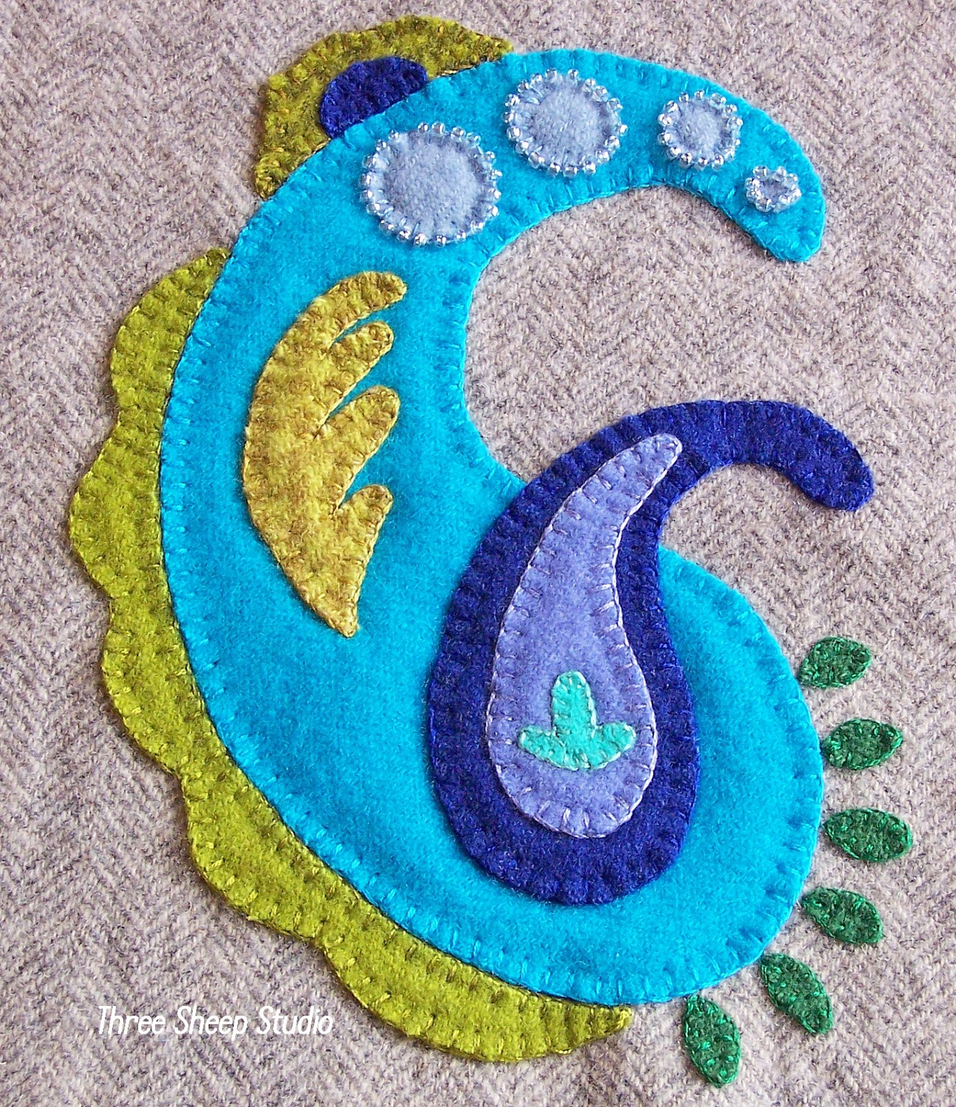 How To Applique With Wool Series  Part 1 (with Free Pattern)