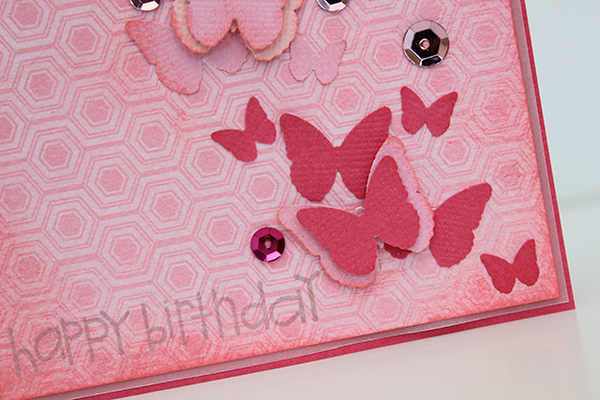 Ombre Butterfly Birthday Card by Juliana Michaels detail