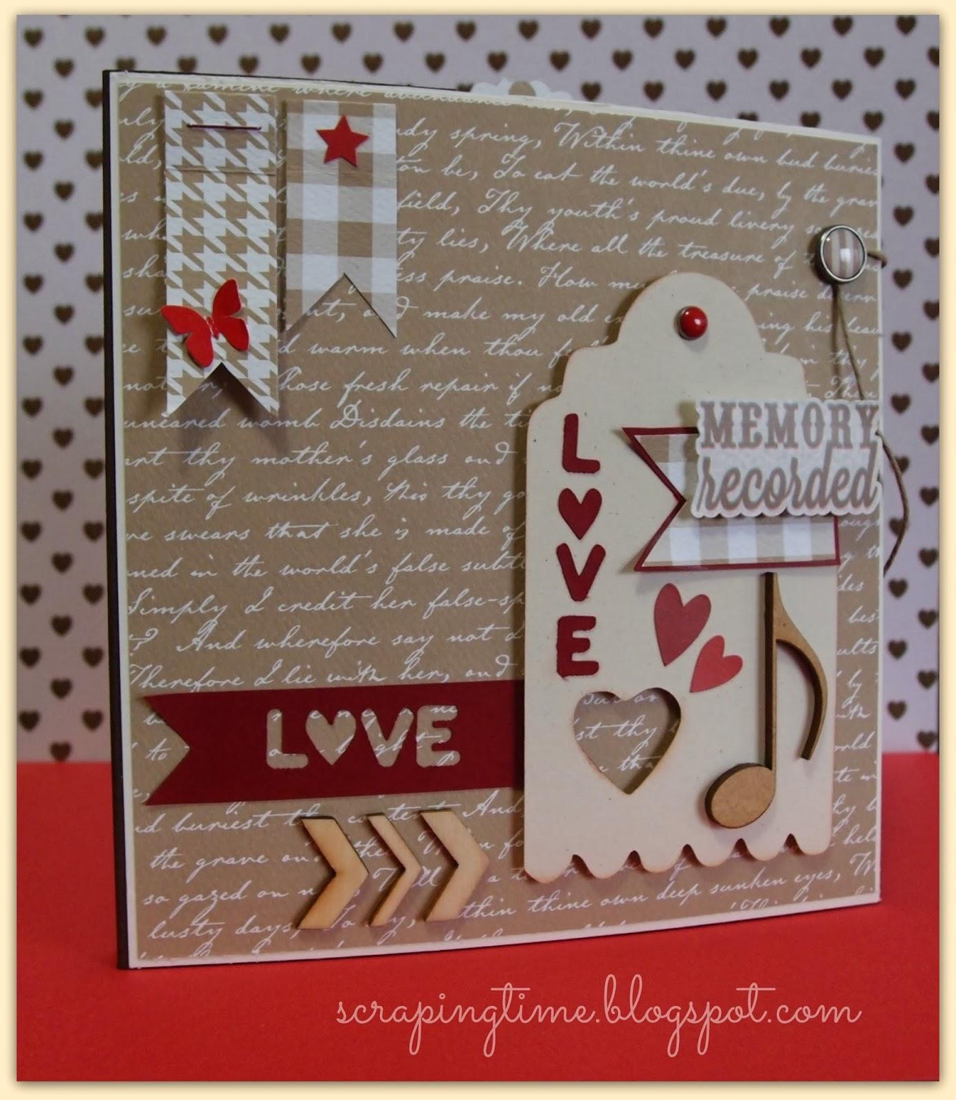 Cuquicosas blog tarjeta a juego con el mini album de scrap - Album para san valentin ...