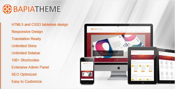 ThemeForest - Bapia - Responsive Business WordPress Theme