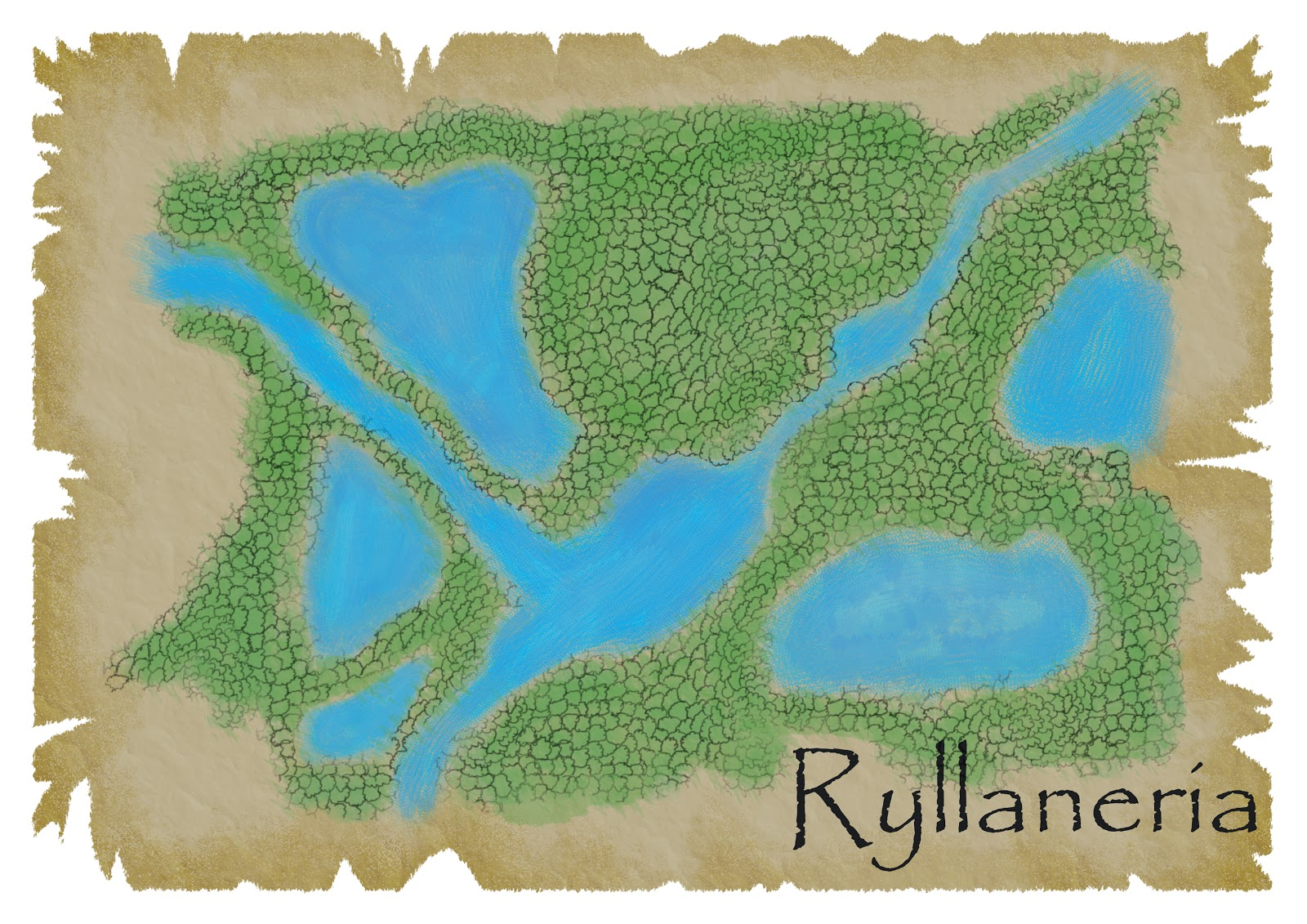 there is a spelling mistake on the map rhyllanaria is the correct spelling