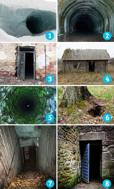Тест на страх: выберите вход, который пугает вас больше всего
