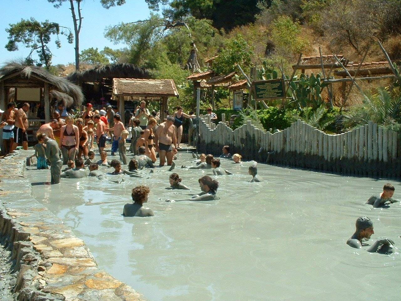Muğla dalyan çamur banyosu