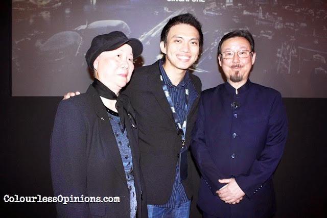Tony Teh with Bruce Lee's siblings Robert Lee & Phoebe Lee