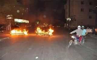 احراق محكمة القطيف على يد المخربين في السعودية