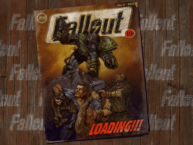 Fallout 1 comic book loading screen