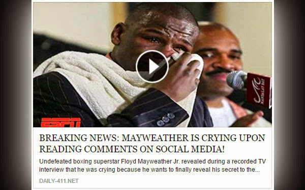 Mayweather Cries Upon Reading Comments