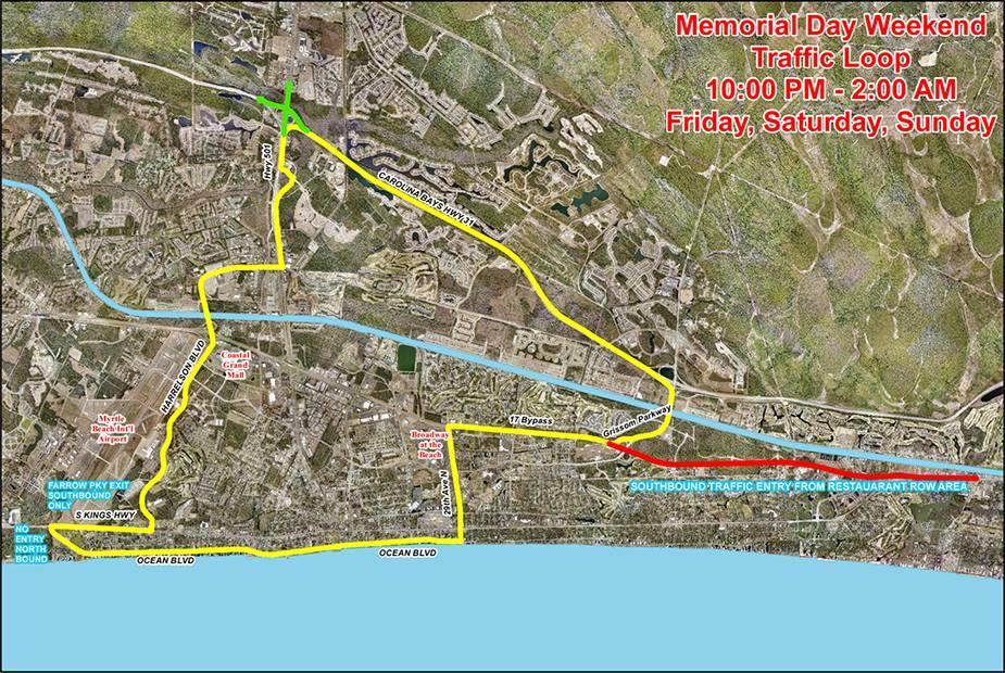 Myrtle Beach City Limits Map Bike Week