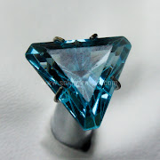 Batu Permata Natural Topaz Blue - SP1004