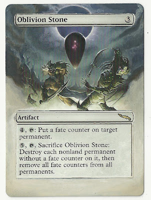 Oblivion Stone altered art Magic the Gathering S'Tsung alter