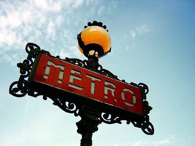 Panneau métro Paris