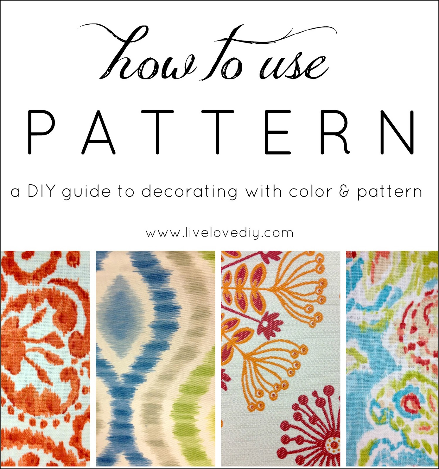 LiveLoveDIY: Decorating Tips: How to Combine Pattern