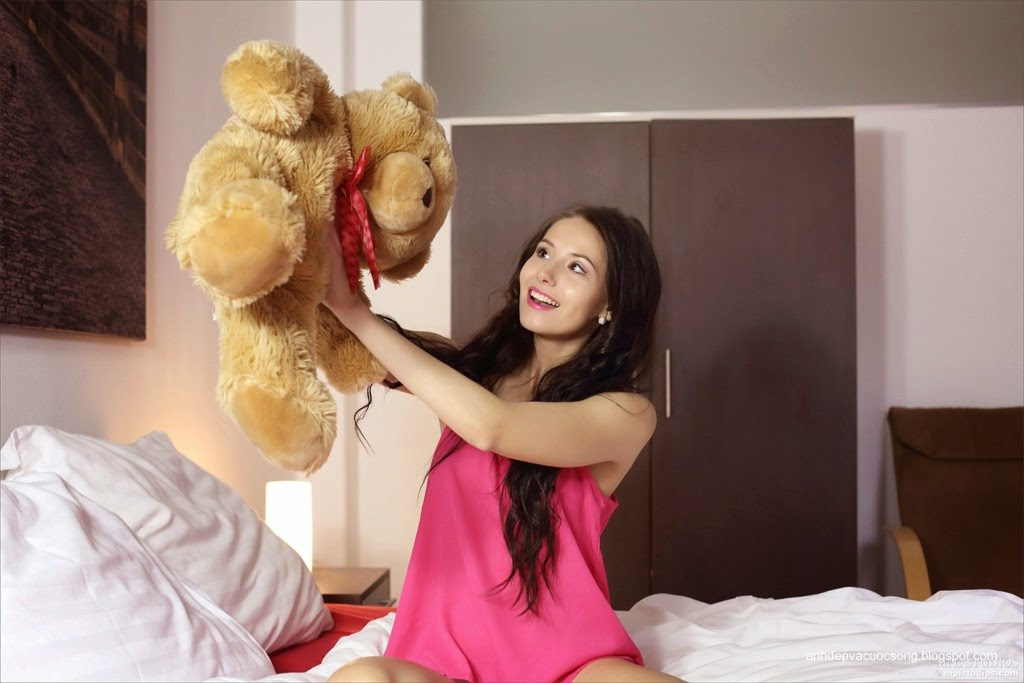 Người đẹp yêu thích gấu bông 4