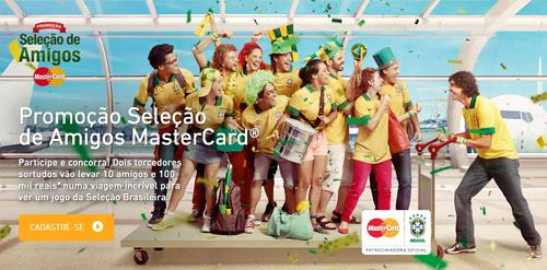 Como eu faço para participar da promoção Mastercard 2014 seleção de amigos