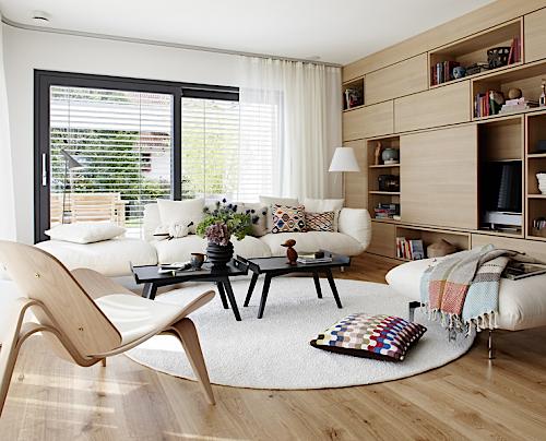 ruang tamu keluarga desain interior