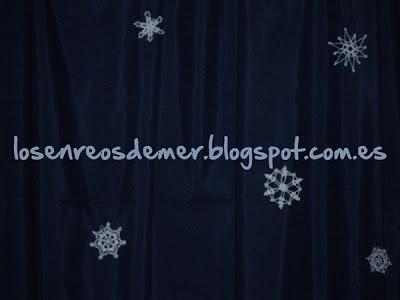 Copos de nieve de ganchillo