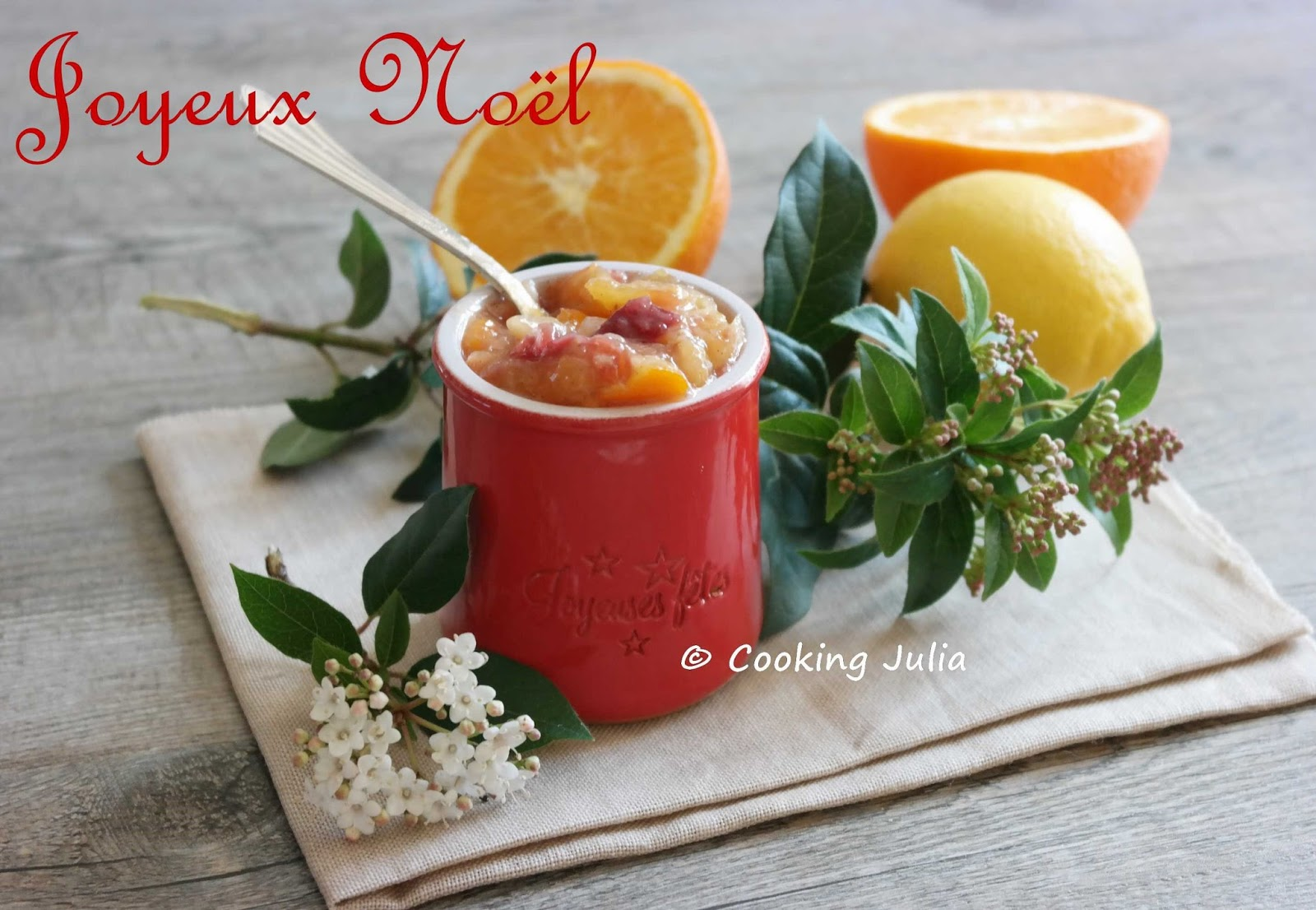 Recette confiture noel thermomix