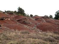 Argiles vermelles sota el Serrat del Prat d'Ori