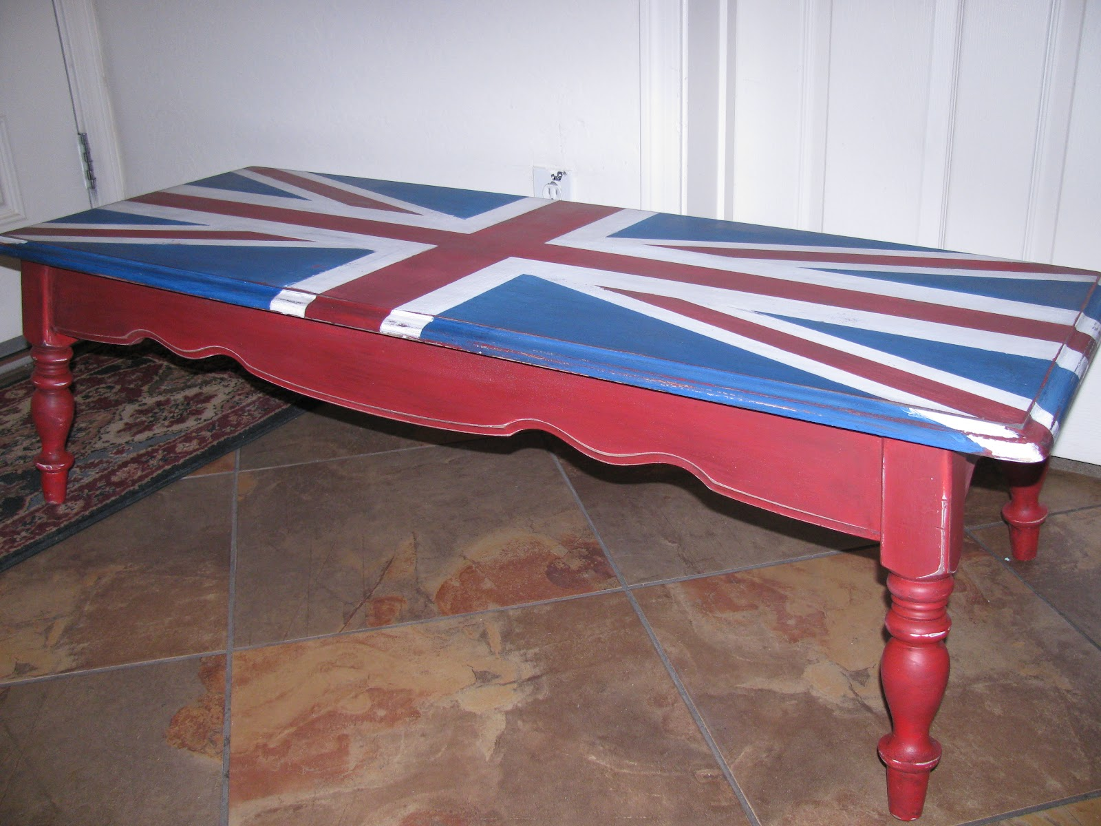 Thrift Store Decor Junky Union Jack Coffee Table