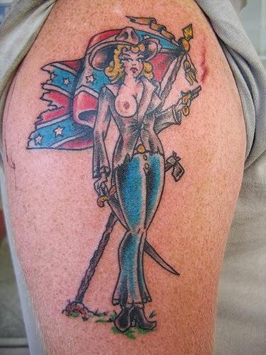 Rebel flag tattoos for Rebel tattoo designs