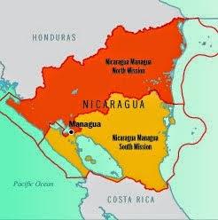 Nicaragua Managua South mission map