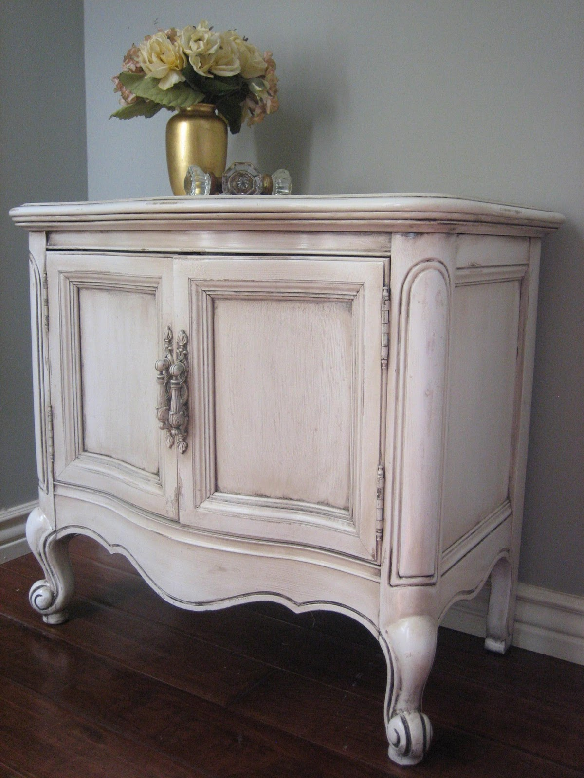 European Paint Finishes Provincial Dresser Nightstands