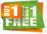 Buy 1 Get 1 Free Clothing, Footwear, Bags, Wallets, Belts & More