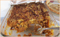Copyright: www.indianaties.com - Marcia Stull's delicious Pumpkin Upside Down Pie recipe