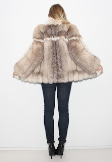 1970's Vintage fox fur coat