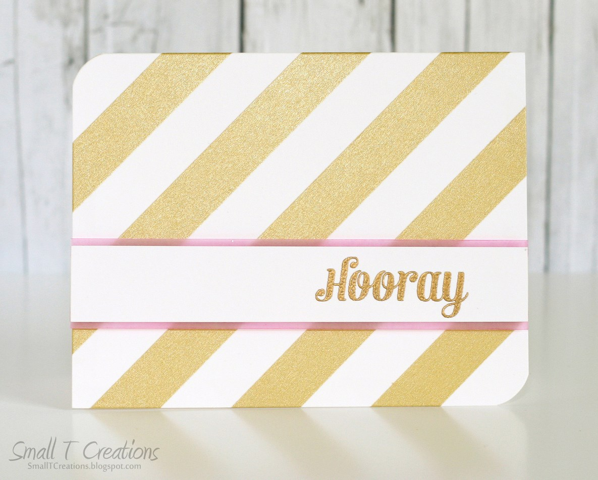 Small T Creations: Gold & Pink CAS Washi Tape Card. Washi tape from www.washitapes.nl #washitape #maskingtape