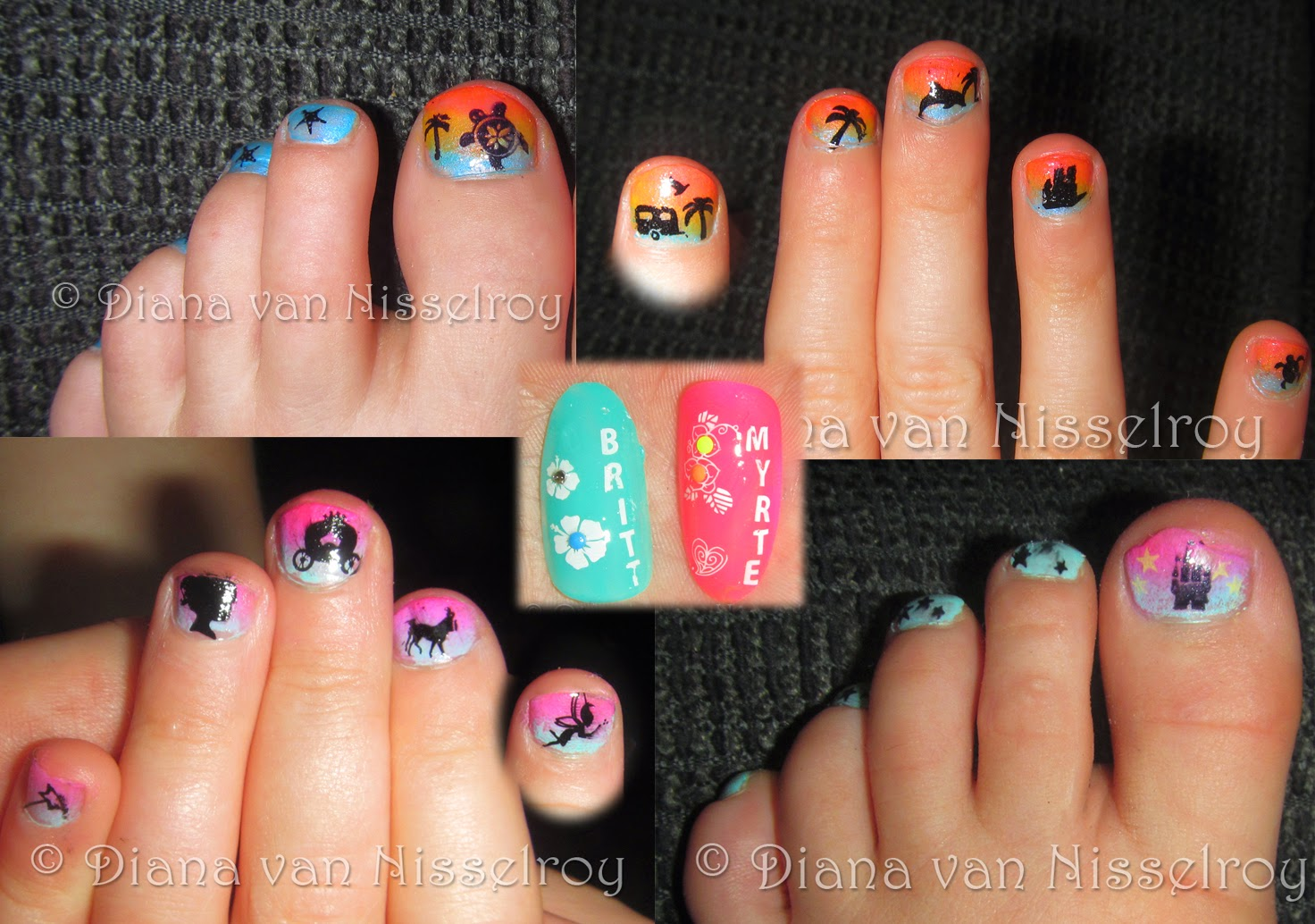 Little girl toe nail designs prinsesfo Image collections