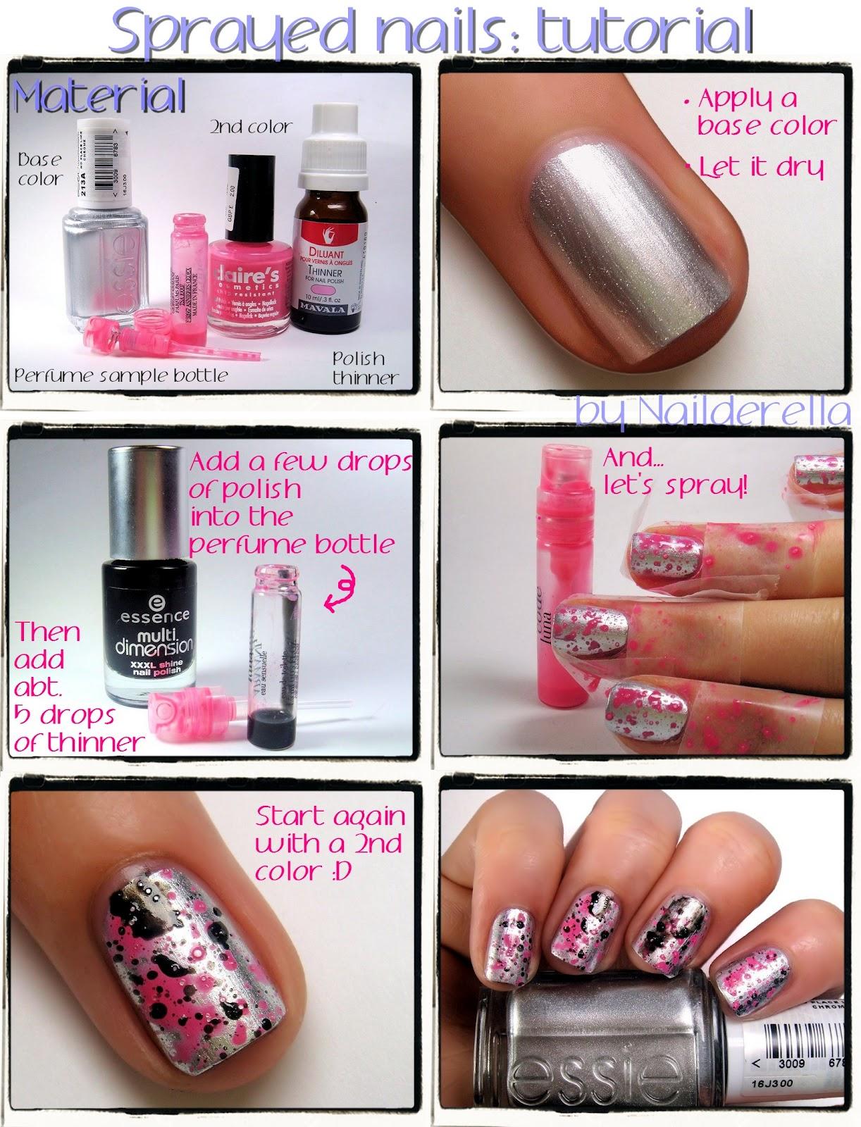 Sprayed manicure - Nailderella